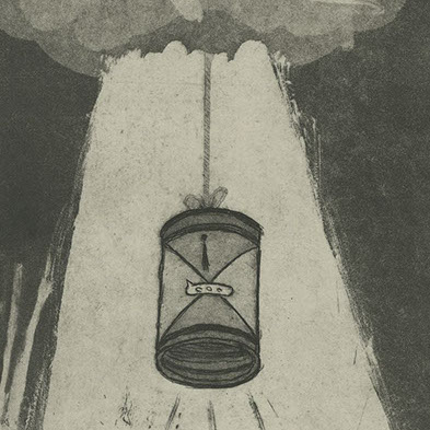 "Printmaking - Intaglio - ""Cloud Communication"""
